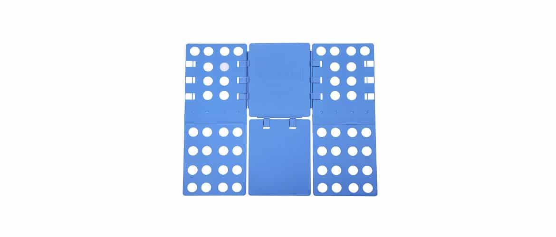 Songmics Planche à plier réglable en plastique pour Vêtements/pantalons/pull-over bleu