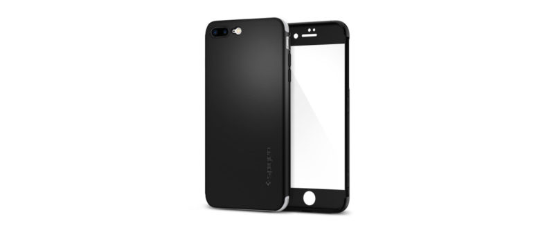 coque spigen air fit 360 noir