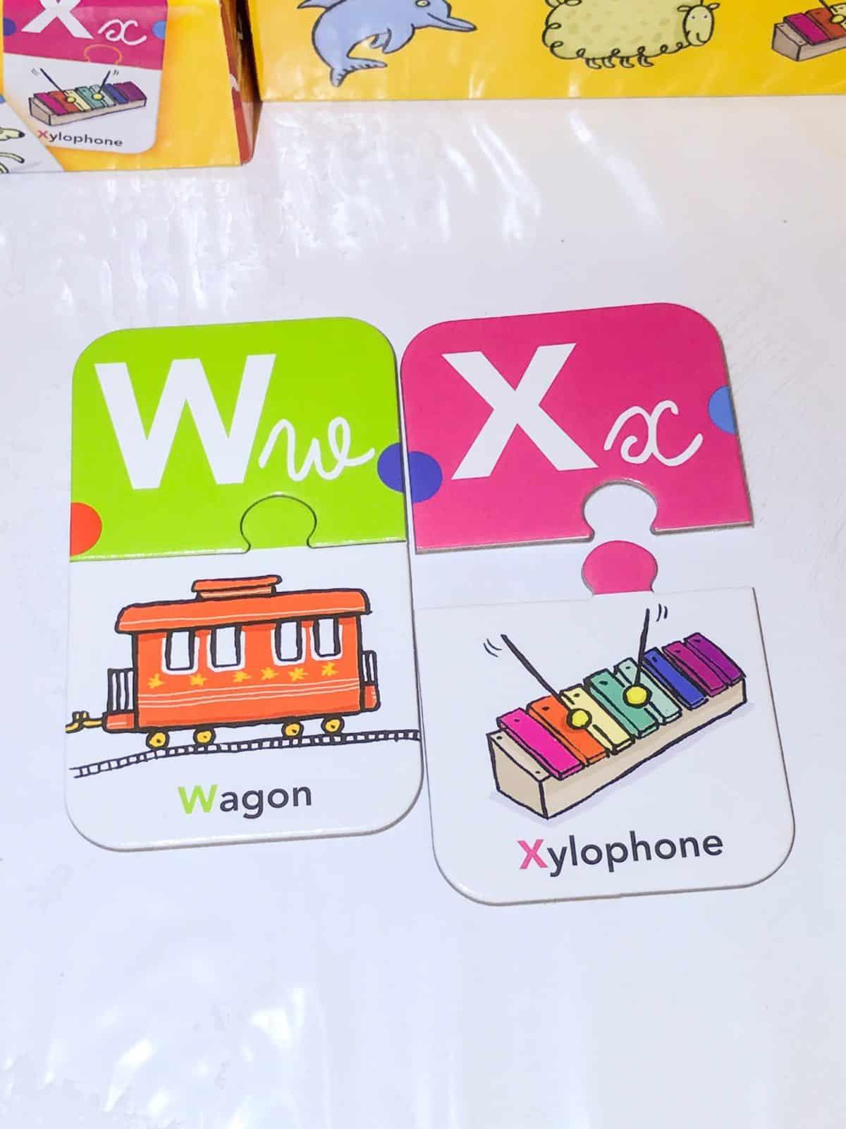 jeu puzzle lettre alphabet image