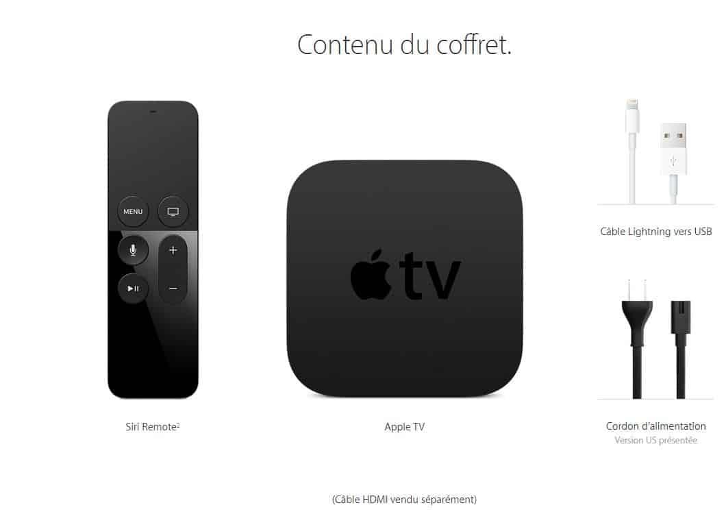 coffret de apple tv 4e generation