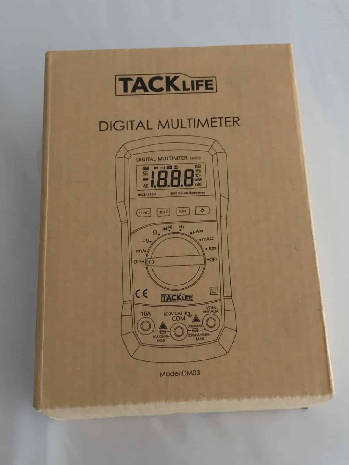 Tacklife DM03 Multimètre Numérique Gamme Automatique