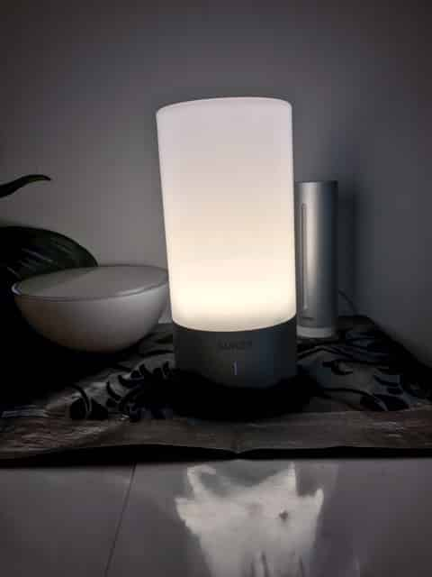 lampe de chevet tactile blanche led