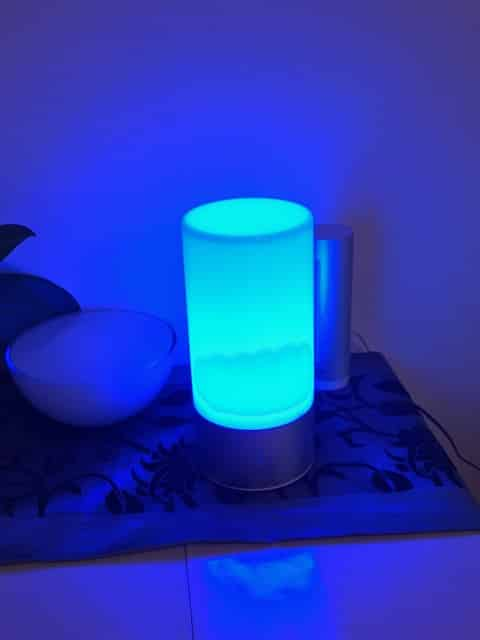 lampe sensitive bleu