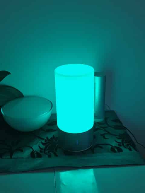 lampe ambiance tactile vert