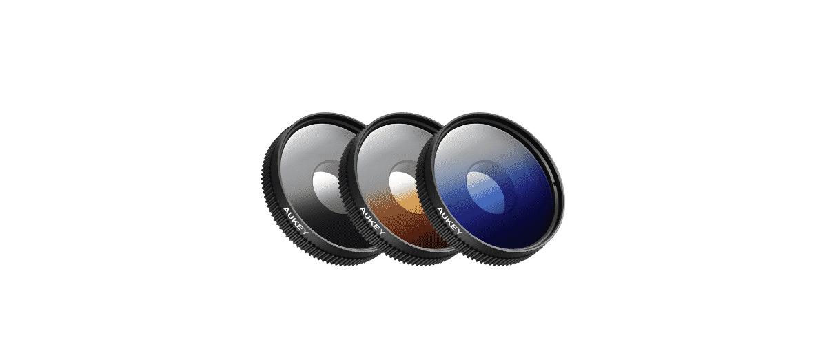 filtres polarisants pour smartphone dégradé