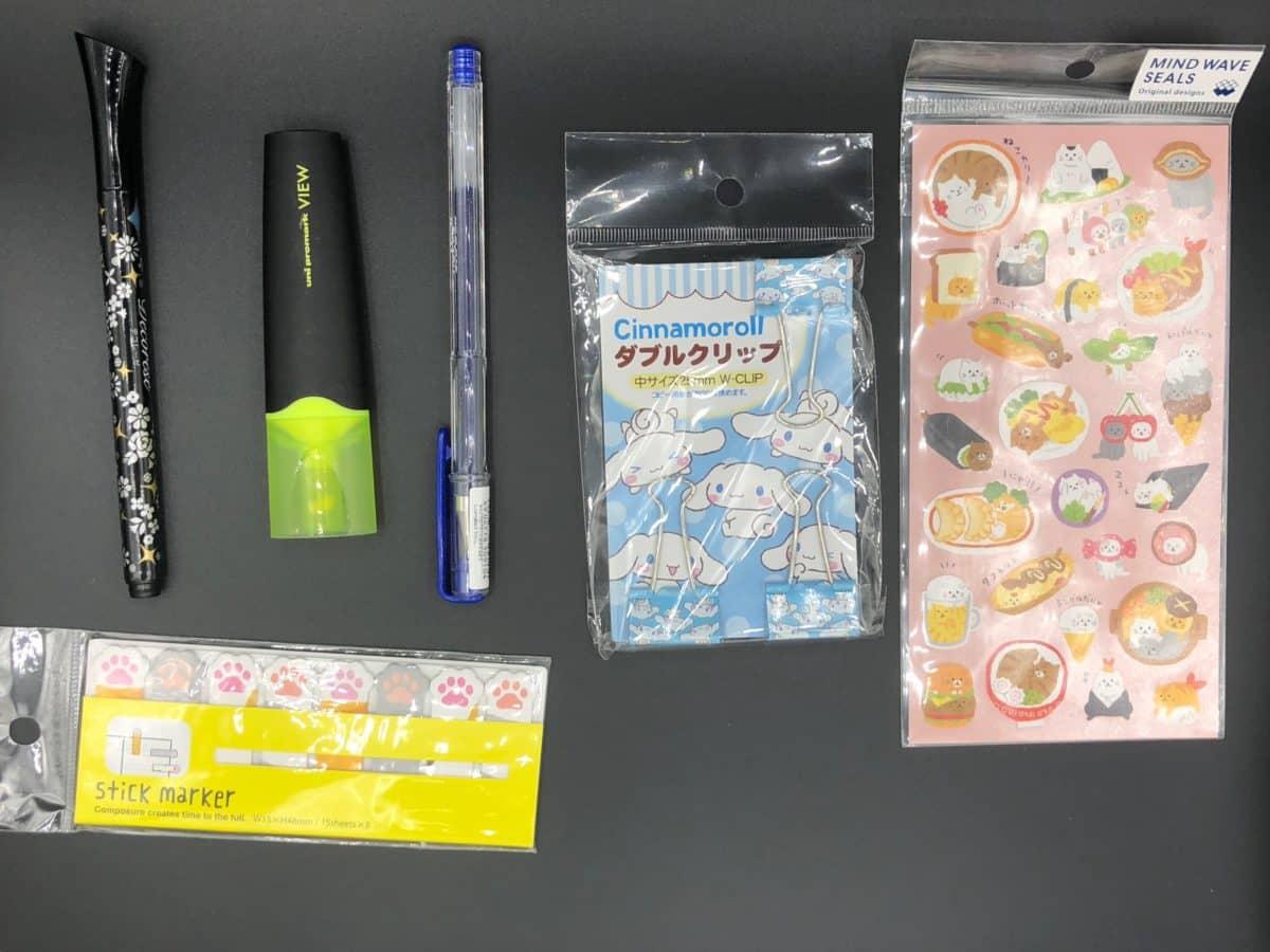 stylo feutre sticker gommettes japonaise